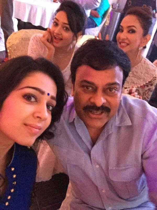 Chiranjeevi and Charmi Kaur