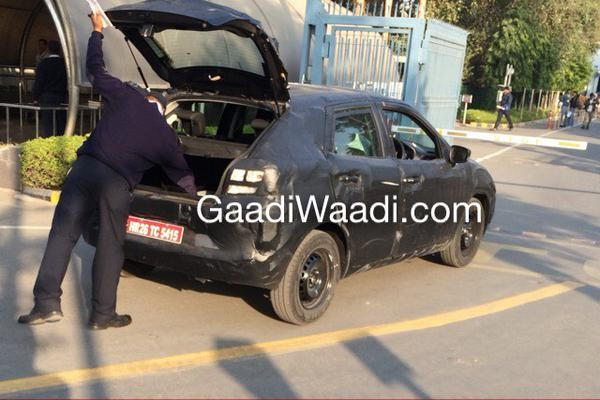 Maruti Suzuki YRA Hatchback Spied Again, Shows Boot Space