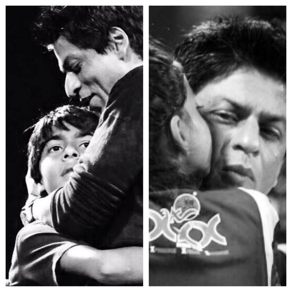 Shah Rukh Khan with Aryan, Suhana