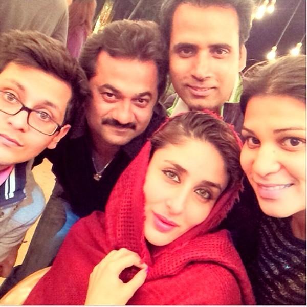 Kareena Kapoor Khan in the sets of