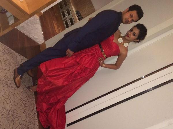 Trisha-Varun Manian at Their Engagement Party