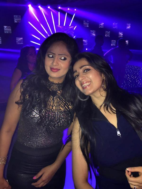 Nikesha, Charmy Having Fun at Trisha's Engagement Party