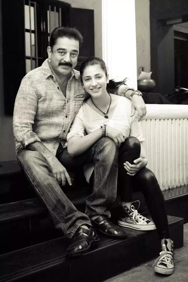 Shruti Haasan and Kamal Haasan