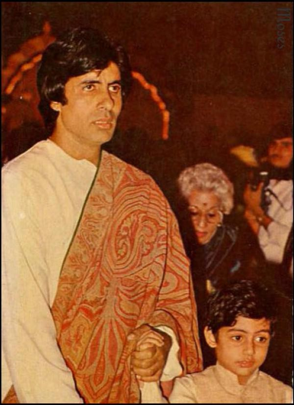 Rare and Unseen Pictures of Abhishek and Amitabh Bachchan
