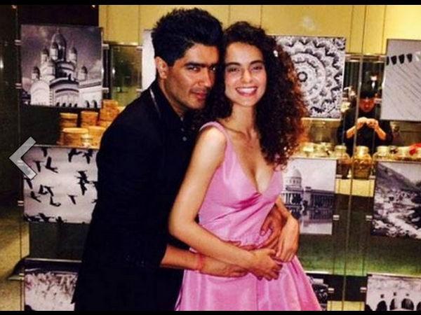 Manish Malhotra and Kangana Ranaut