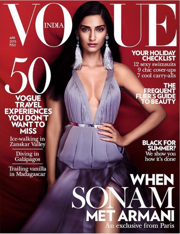 Sonam Kapoor featured in the cover page of Vogue