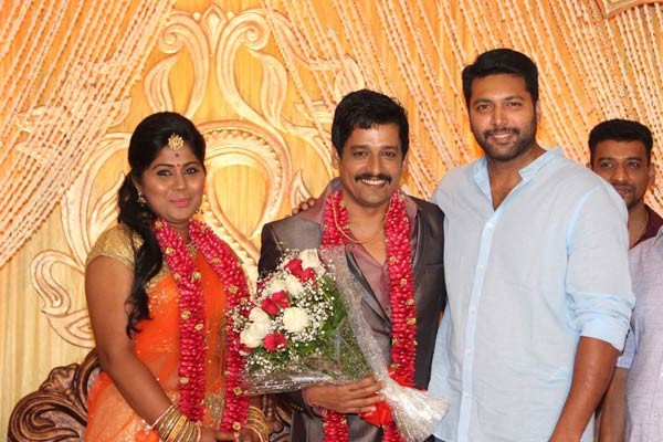 Jayam Ravi at Vidharth's Wedding Reception