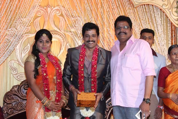 KS Ravikumar at Vidharth's Wedding Reception