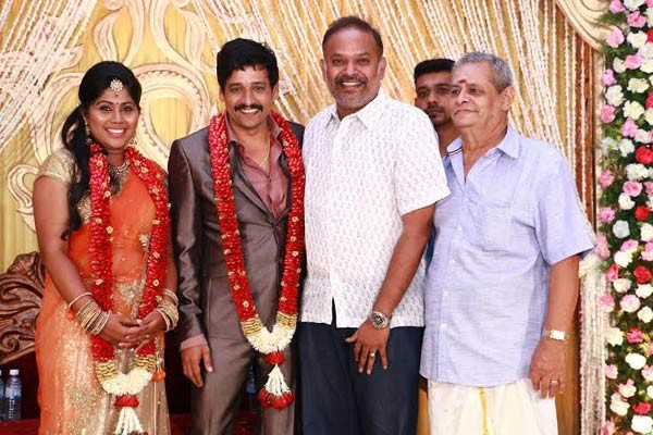 Venkat Prabhu at Vidharth-Gayathri Devi Wedding Reception.