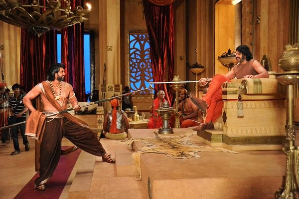 Image result for filming of bahubali