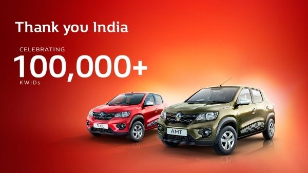 Renault Kwid makes it to 1 lakh sales club in India