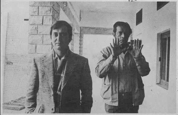 Soumitra Chattopadhyay and Satyajit Ray