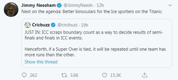 Jimmy Neesham tweet