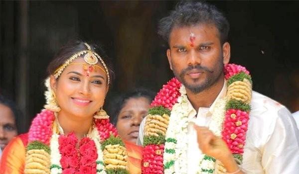Nandhini with Karthikeyan