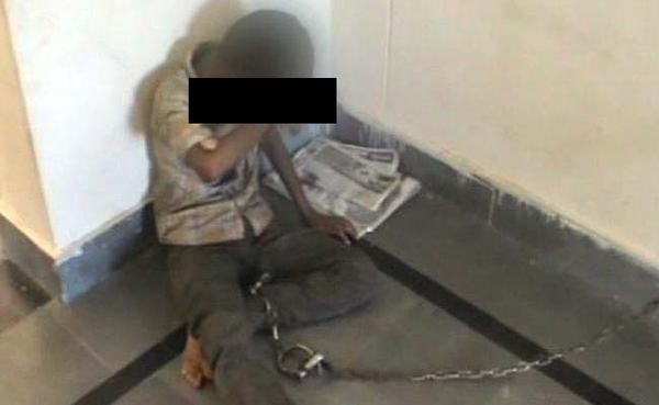 Boy kept chained in a police station in Andhra Pradesh