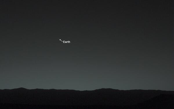 Earth from Mars Surface