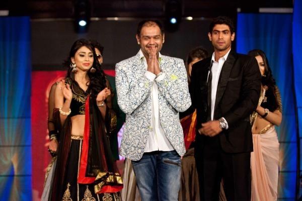 Showstoppers Shriya Saran and RanaDaggubati in designer Shravans collection