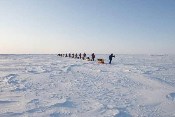 Greenpeace activists on an expedition to North Pole (Credit: Greenpeace)