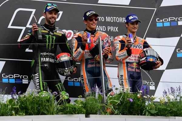 2017 German MotoGP podium