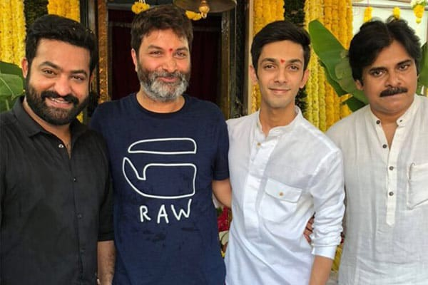 Jr NTR and Trivikram at opening ceremony of NTR28