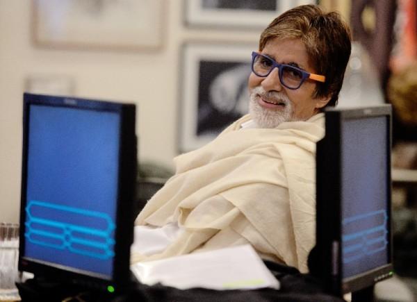 Amitabh Bachchan while shooting for KBC recently