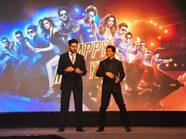 Shah Rukh Khan WIth Abhishek Bachchan In Chennai