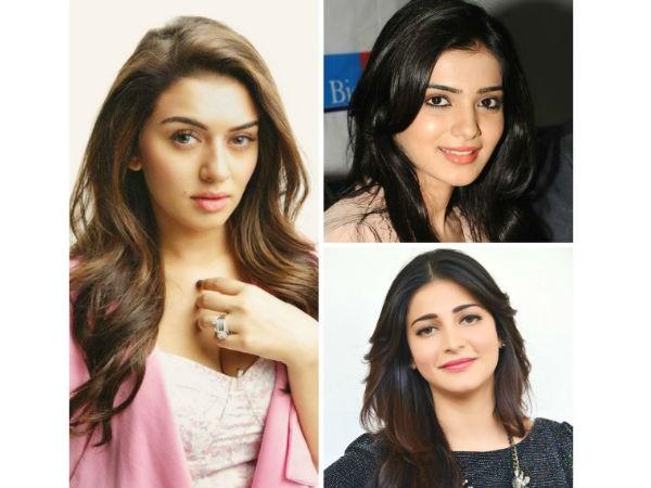 Hansika Motwani, Samantha, Shruti Haasan