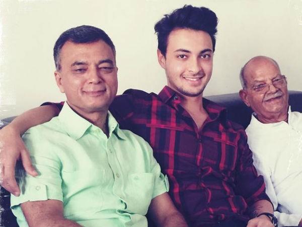Aayush Sharma with his father Anil Sharma and grandfather Sukhram Sharma