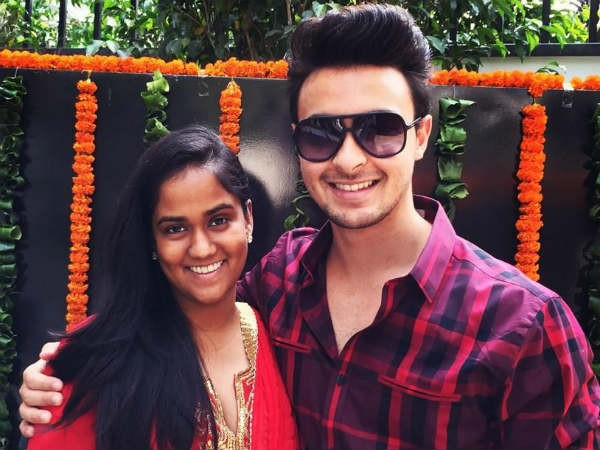 Arpita Khan with Aayush Sharma