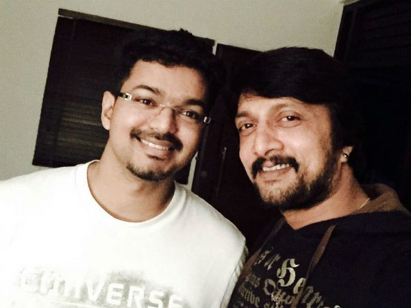 Vijay with Sudeep