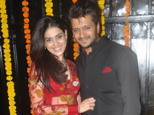 Genelia with Riteish Deshmukh