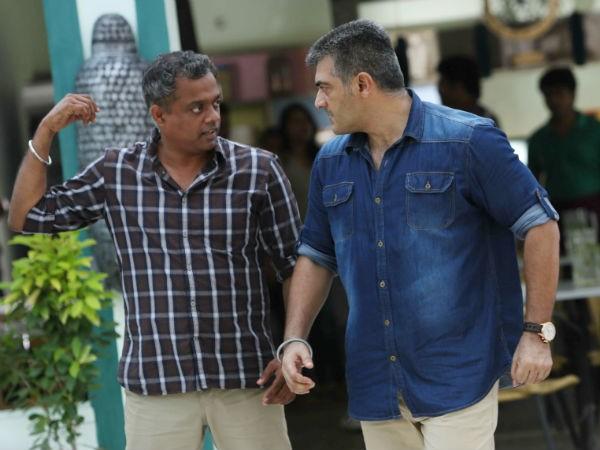 Gautham Menon with Ajith