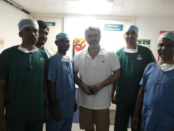 Ajith at Hospital