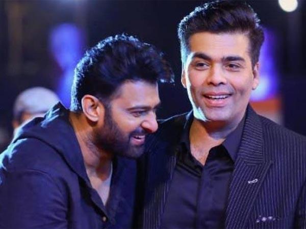 Prabhas with Karan Johar
