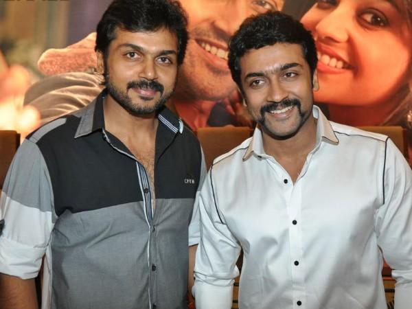 Karthi with Suriya