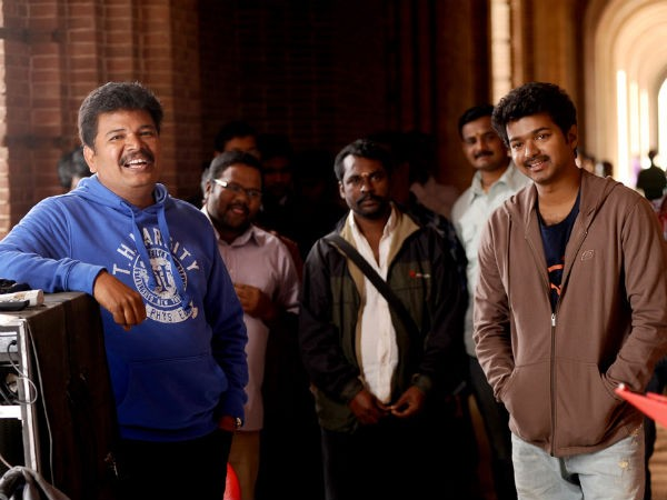 Shankar with Vijay