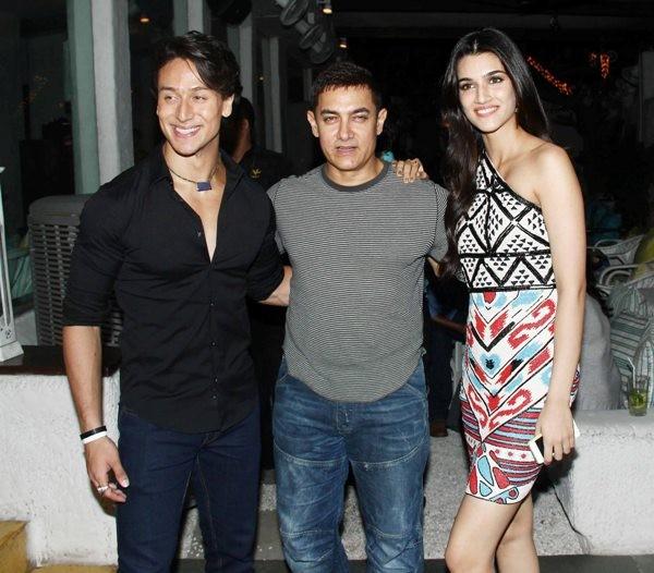 Tiger Shroff, Kriti Sanon and Aamir Khan at