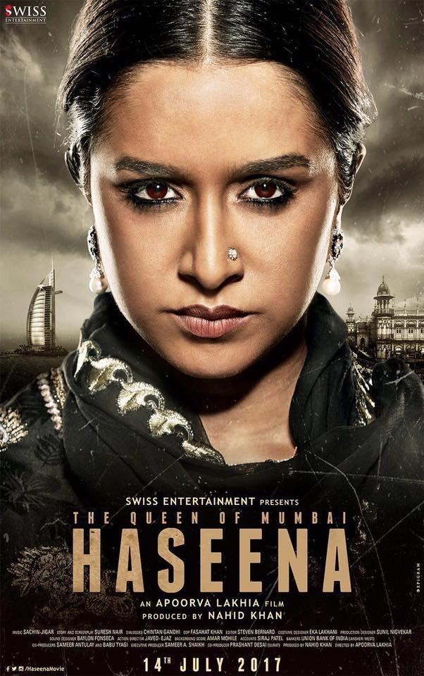 Haseena,Shraddha Kapoor,Haseena first look poster,Haseena first look,Haseena poster,Haseena movie poster,Haseena Parkar