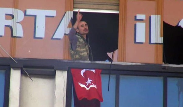 Armed assailants have entered the ruling AK party office on Wednesday.