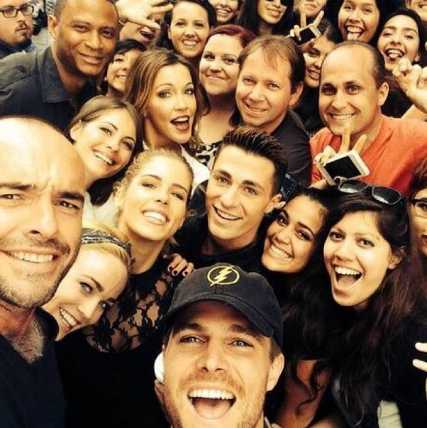 Cast of Arrow at the San Diego Comic Con