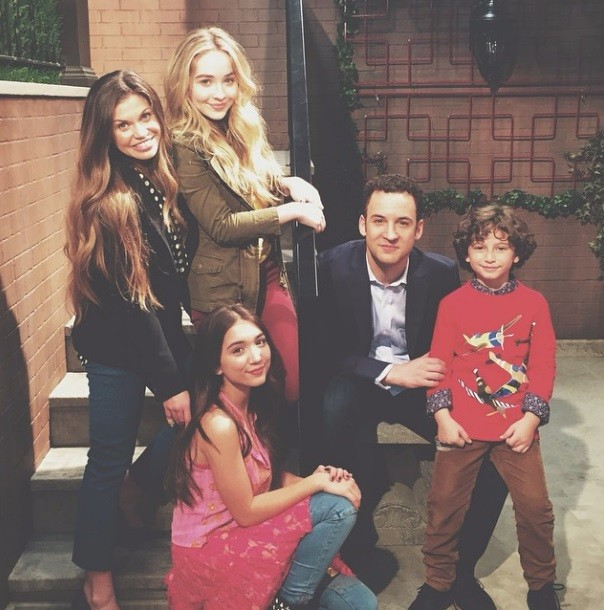 Sabrina with the rest of 'Girl Meets World' Cast