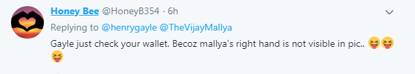 Chris Gayle Vijay Mallya Tweet