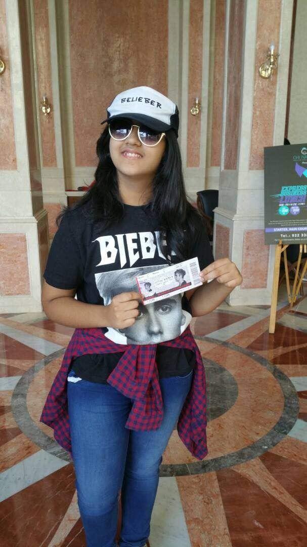 Bieber concert,Bieber concert in Mumbai,12-year-old fan of Bieber concert,Akshita Rajpal