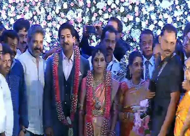 Rajamouli,Rajamouli at Shivarajkumar daughter Nirupama-Dileep Wedding reception,Shivarajkumar daughter Nirupama-Dileep Wedding reception,Nirupama-Dileep Wedding reception,Shivarajkumar daughter Nirupama-Dileep Wedding reception pics,Shivarajkumar daughter