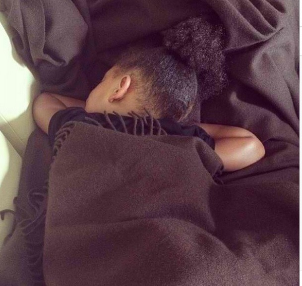 Adorable Blue Ivy taking a nap