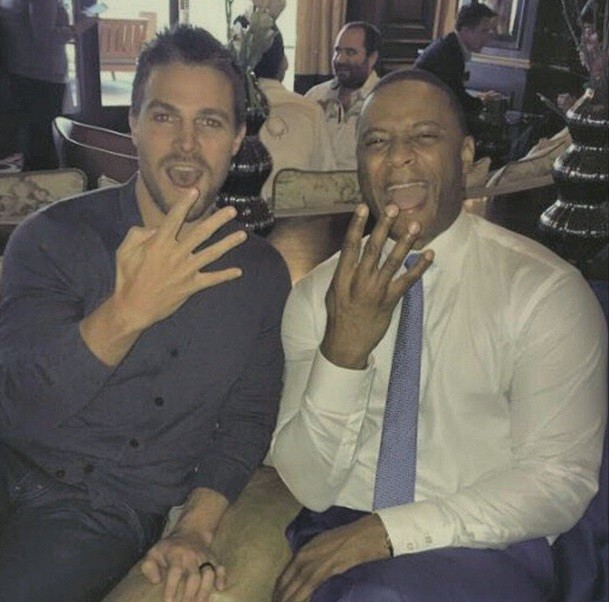 Stephen and David celebrate announcement of season 4