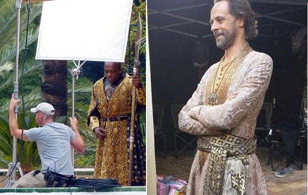 Alexander Siddig As Doran Martell (right) and Deobia Oparei as his personal body guard