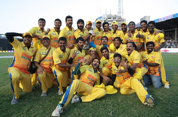 Chennai Rhinos Posing for Camera