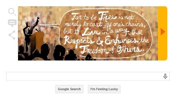 Mandela Doodle Speech