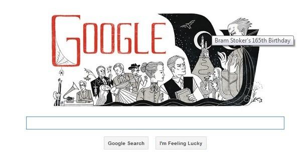 Google Shows 'Dracula' doodle
